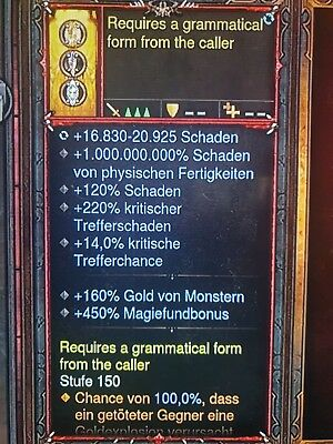 Diablo 3 - Nintendo Switch - Damage Ring - 450% Magiefundbonus - MODDED - SC/HC