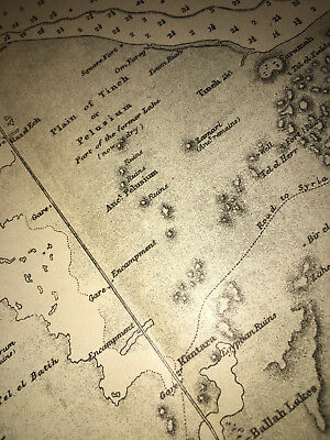 1884 Suez Canal Map Diagram Isthmus of Suez Bay Tineh Lake Menzaleh Bitter Lake