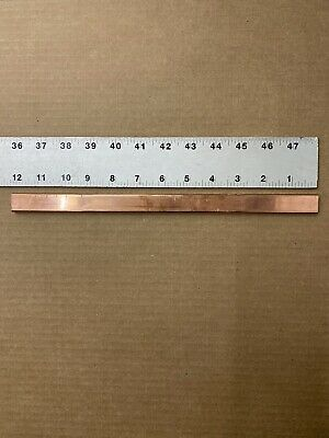 "1/4""x3/4""x12"" COPPER Bar Solid Flat .25""x.75""x12"" New 2"
