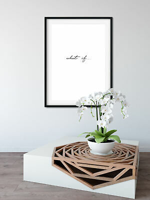 Motivational inspirational quote Poster Print Picture Wall Art What if 2