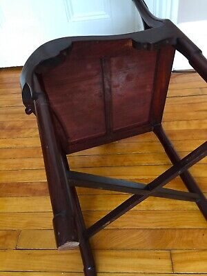 Antique Chinese Rosewood Hand Made Corner Chair 8