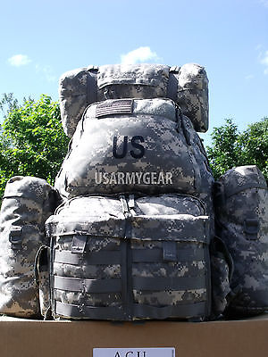 $259 Fully Loaded Molle ACU Medium Rucksack Military Backpack Hydration Pouches 9