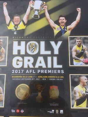 Richmond Tigers - Holy Grail Premiership Sports Print Afl Approved Gold Foiling