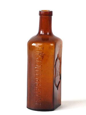 Alte Braunglas Flasche B&S Boehringer Arsenferratose 3