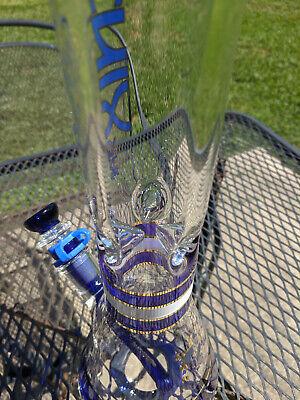 "Blue XL Phoenix - 14.4mm 18/"" Inches Tall Glass Beaker Water Pipe Bong"
