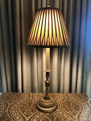 Antique Gilt Bronze Neoclassical French Candlestick Lamp 6