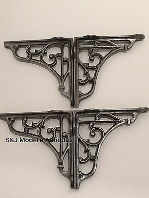 Antique Vintage Shelf Bracket Cast Iron Metal Victorian Design Heavy Duty 5 Inch