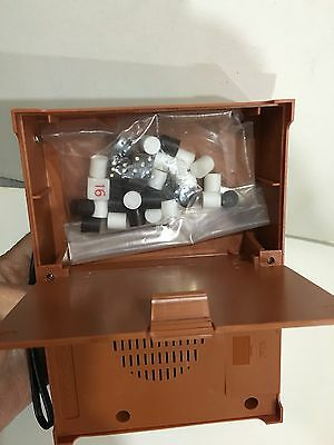 VINTAGE NOVELTY RADIO AM(MW)- BAND WITH BACKGAMMON GAME FROM 1970s NEW WITH BOX 6