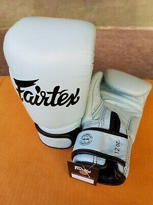 Genuine Fairtex New Pastel blue Boxing Gloves Genuine Leather