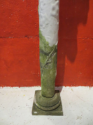 Two Antique Marble and Limestone Garden Columns- From The Godfather III Estate 5