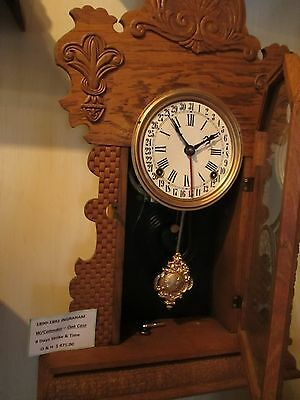1890 Ingraham Ginger Clock ***With Calendar*** Oak Case 2