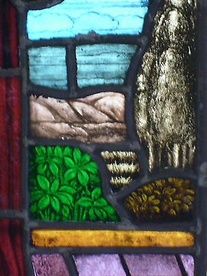 Large Piece Antique Stained Glass Window 5