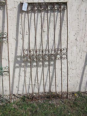 Antique Victorian Iron Gate Window Garden Fence Architectural Salvage Door #354 4