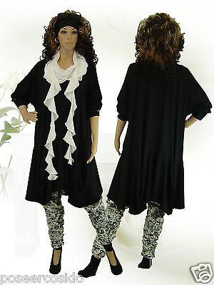 L-XL-XXL-XXXL PoCo DeSiGn° LAGENLOOK Shirt Jacke Beulen Kurz Mantel Nube 42-58