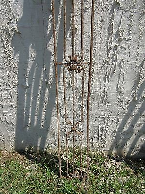 Antique Victorian Iron Gate Window Garden Fence Architectural Salvage Door #656 2