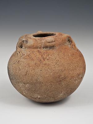 Small Narino Pre-Columbian Pot with Frog or Lizard Motif, Ecuador 5