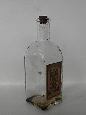 Uralte kleine Flasche Glasflasche LANGBEIN  Glockenstern Balsam