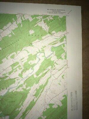 McCoysville PA. Juniata Co USGS Topographical Geological Survey Quadrangle Map 3