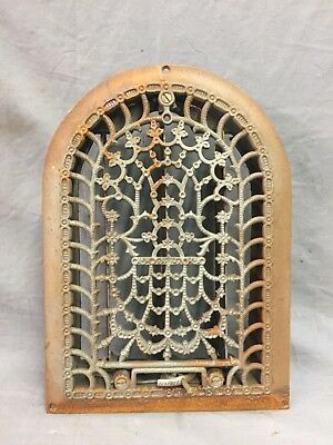 Antique Cast Iron Arch Decorative Heat Grate Register Stars 8X12 Dome Vtg 28-19C 6