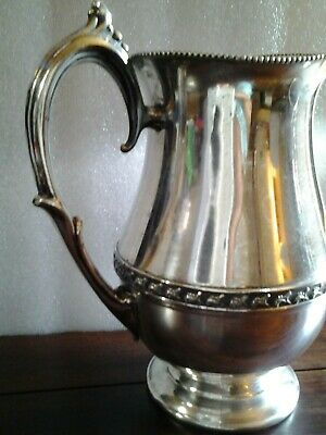 "Vintage Signed ""SHEETS ROCKFORD CO"" 305 Silver Plate Beverage Water Pitcher 3"