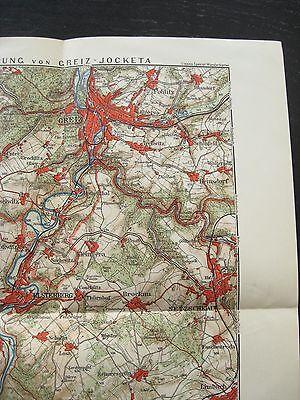 Lissels Spezial Wanderkarte Nr 27.Umgebung von Greiz Jocketa um 1910