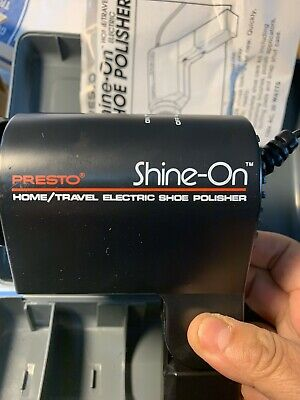 Presto Shine-On Home/Travel Electric Shoe Polisher Vintage Rare 11