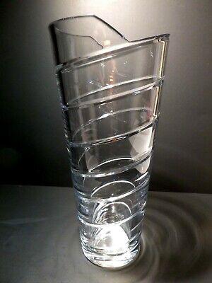 "Rare *VINTAGE* Atlantis Crystal AZTEC Flower Vase 11 3/4"" 4"