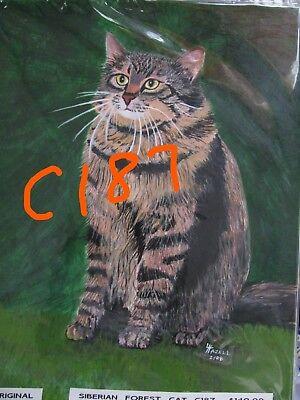 "C74  Original Acrylic Painting By Ljh   ""Minnie""   Cat 10"
