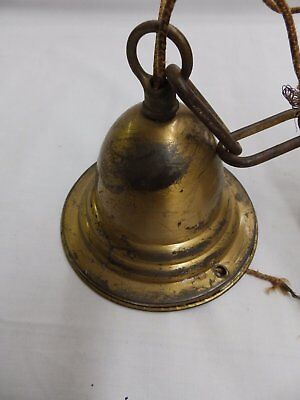 Antique Brass Pendant Ceiling Light Fixture Frosted Rose Glass Shade Vtg 4501-15