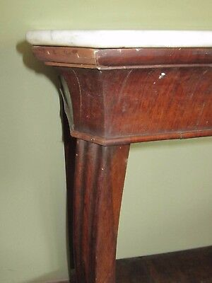 Consolle Ingresso Antiquariato.Console Antica Noce Tavolo Ingresso Villa Marmo Antiquariato H 121 L 147 Bancone