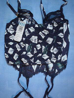 Vintage Valentino 2701 Bustier with Sheer Trim Size 34B in a Calla Lily Print 10