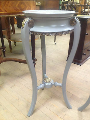 pair french victorian grey painted ormolu torcheres plant candle stand jardinier 3