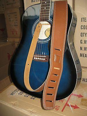 Gitarrengurt Leder - Gitarrenband Braun - Extra Breit 6,5Cm - Wildleder Innen-20 5