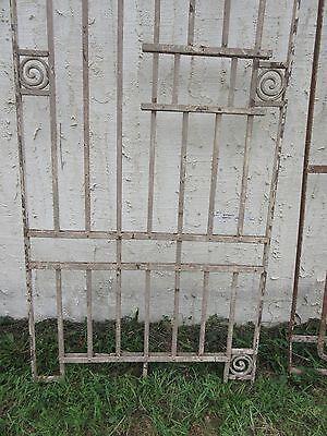 Antique Victorian Iron Gate Window Garden Fence Architectural Salvage Door #88 2
