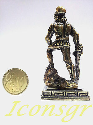Ancient Greek Olympian God Miniature Sculpture Statue Zamac Ares King War Gold