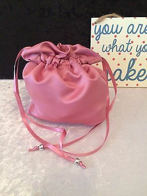 PLAIN DOLLY BAG BRIDAL BRIDESMAID FLOWER GIRL BNIP ASS. COLS. ** free samples** 3
