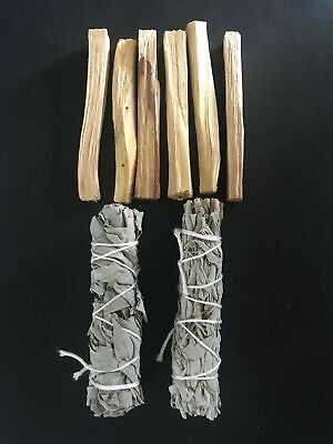 6 Palo Santo Wood & 2 White Sage Smudge Sticks: Cleansing Negativity Removal 4