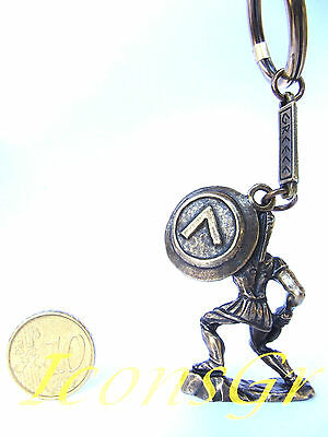Keyring 300 Leonidas King Sparta Ancient Greek Vintage Zamac Spartan Miniature 2