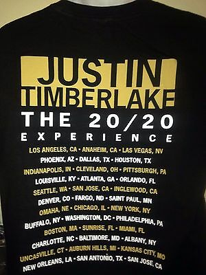 JUSTIN TIMBERLAKE 20/20 Experience Tour 2014 Large T Shirt Pop Out Of Print