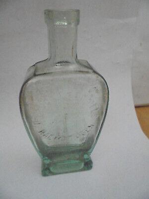 27436 Dr. Hommels Haematogen Relief Flasche Glasflasche 1910 Reklame 18cm 2