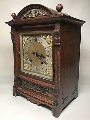 Late 19th Century Brass Dial German 1/4 Striking Bracket Mantel Clock. Not Fusee 3