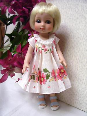 """Hanky Dress, Hat  PATTERN for 10"""" to 16"""" Dolls  Little Darling,  Bleuette, 6"""