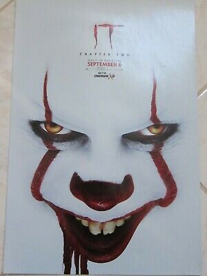 IT CHAPTER 2 TWO 2019 Original Cinemark XD Exclusive Promo Mini Movie Poster 2