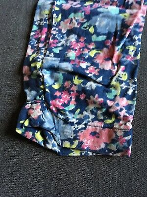 Next Girls Blue Pattern Trousers Size 7 Years Good Condition 2