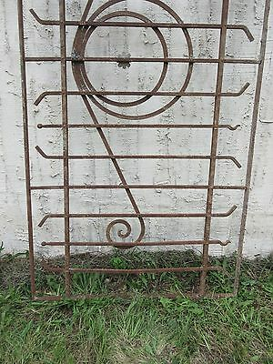 Antique Victorian Iron Gate Window Garden Fence Architectural Salvage Door #78 2