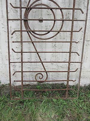 Antique Victorian Iron Gate Window Garden Fence Architectural Salvage Door #78 2
