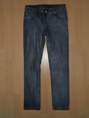 Mädchen Jeans grau gerade Beine robust Gr. 158 2