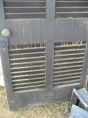 "SOLID - circa 1890 VICTORIAN shutter screen door w louvers 77.5"" x 30"" x 1.25"" 8"