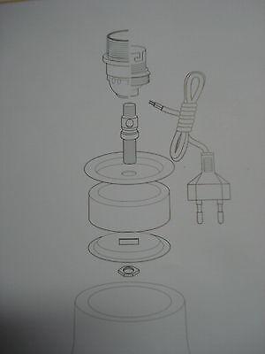 1 adaptateur 55 mm extensible pour vase potiche en caoutchouc et laiton