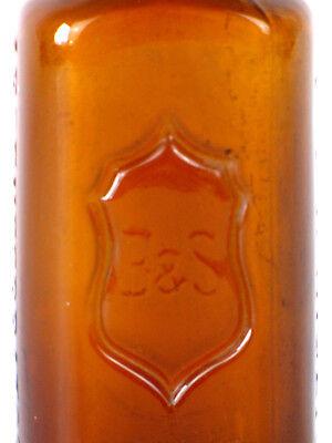 Alte Braunglas Flasche B&S Boehringer Arsenferratose 2